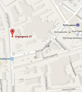 Kartenansicht Ungargasse 27, 1030 Wien